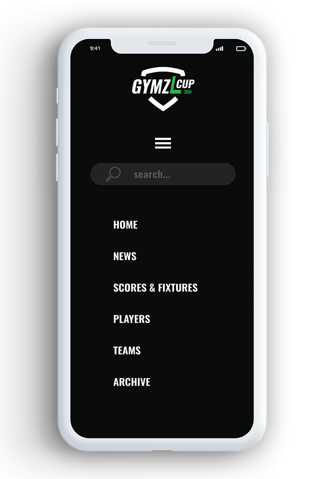 Design of GYMZL Cup website for mobile devices