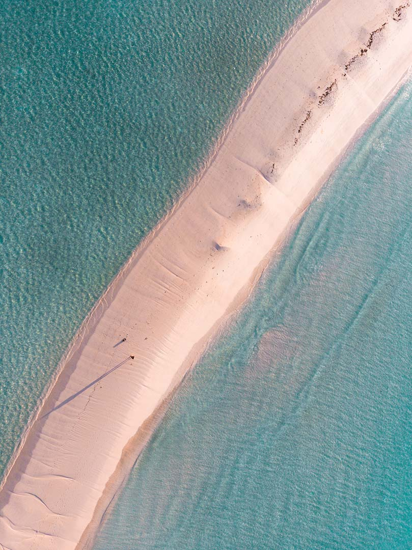 Drone Photography of Maldives sand beach by Jan Klima